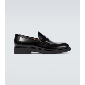 Gianvito Rossi Men's Harris leather loafers 2021 Spring New Arrival topshop XHU1I