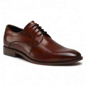Men's Brown Leather, Textile Shoes BUGATTI Going Out guid outlet 0ANDN