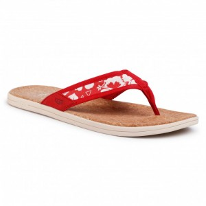 Men's Red Textile Slides UGG For Daily new look shopping U3O7A