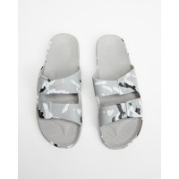 Freedom Moses Men's Slides - Unisex Army Grey Dressy Hot Sale shopping AJ8YR5540