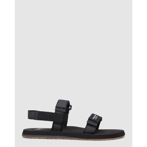 Quiksilver Men's Mens Monkey Caged Sandals Black/Grey/Black For Work the best in store 8WVCI2442