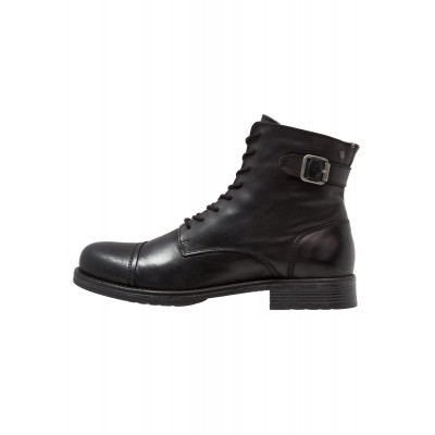 Jack & Jones Men's anthracite JFWSITI - Lace-up ankle boots 2021 Spring comfortable in store YJJNG