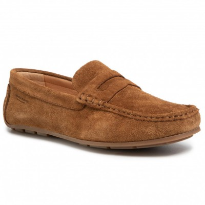 Men's Brown Leather Moccasins VAGABOND Going Out Discount shopping 9EU9L